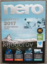 Nero 2017 Platinum for Windows – Sealed Retail Box - Brand New