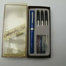 Vtg Sheaffer Calligraphy pen set Fountain USA Very Nice