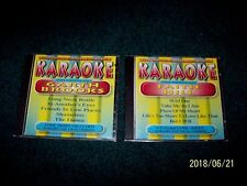 KARAOKE-THE SONGS OF GARTH BROOKS and FAITH HILL ( 2 SEPARATE CDs ) LYRIC SHEETS