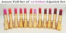 12 PCs Amuse Lipstick Set - Pink, Red, Orange, Burgundy... *US SELLER*