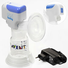 Einzelmilchpumpe elektrische Milchpumpe mit Babyflasche Akku und Netzbetrieb