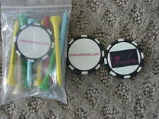 3 NUANCE WINES POKER CHIP GOLF BALL MARKERS