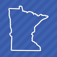 Minnesota MN State Outline Vinyl Decal Sticker