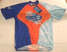Pactimo Bike MS 2010 Bay to Bay tour cycling jersey men sz XL NEW NWT