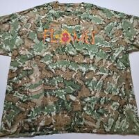 Flames Baseball T-Shirt Mens 2XL Fire Camouflage Camo Pitcher Hunting Woods P34
