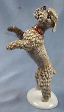 Pudel  porzellanfigur hund Unterweißbach porzellan figura figur 1960