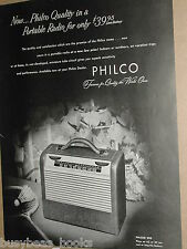 1947 Philco Radio advertisement, Philco model 300 portable radio