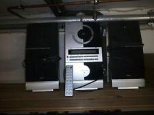CD Musikanlage mit Kassettendeck, Radio und Boxen, Fernbedienung