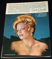 """1972 SARAH COVENTRY JEWELRY AD~EILEEN FULTON """"AS THE WORLD TURNS"""" SOAP OPERA"""