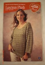 Luscious Plush Knit & Crochet Apparel & Afghans Red Heart Book 0703 - 4 Patterns