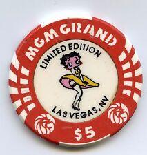MGM Betty Boop Casino Chip $5 Chip
