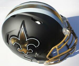 New Orleans Saints Custom Speed Blaze Football Helmet QB Decals Used Drew Brees