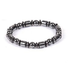 8mm Magnetic Hematite Therapy Bracelet Natural Gemstone Beads Stretchy Bracelet