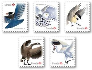 "2018 Canada 📭🦅 BIRDS Series 🦉 ALL 5 ""P"" Booklet Singles MNH 🦢📬"