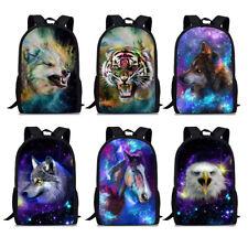 Boys Schoolbags Galaxy Animal Print Satchel Mens Travel Laptop Backpack Rucksack