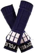 DR Doctor Who BBC Licensed TARDIS Arm Warmers FINGERLESS GLOVES Costume PROPS