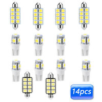 14x White LED Auto Car T10 Interior Light Lamp Bulbs Package Kits Accessories