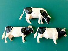 Vintage Britains Friesian Cattle Bull x1 Cows x2