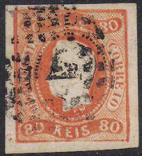 Il Portogallo 1866 80A King Louis II SG 43 USATO