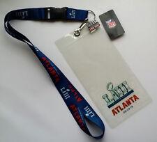 Super Bowl LIII 53 Atlanta GA NFL Game Day Lanyard Ticket Holder & Pin Combo