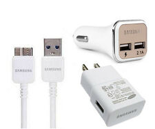 OEM  2A Wall Charger+2.1A Dual Car Charger+3.0 USB Data Cable for Samsung S5/N3