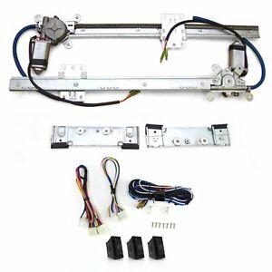 Packard Power Window Kit 3 switches flat glass vintage style worm gear motor
