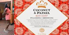 Nubian Heritage Coconut Papaya Soap Bar 5 oz Polishing and & Renewing 2 Bars