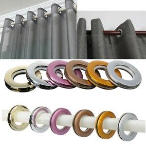 16Pcs Plastic Curtain Rings Hooks Hanging Window  Eyelets Round Grommets 45mm