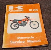 KAWASAKI OEM FACTORY SERVICE MANUAL KL 250 1980 SHOP GUIDE BOOK VINTAGE