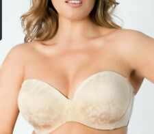 New CURVY COUTURE STRAPLESS MULTI-WAY PUSH-UP BRA SZ 34H STYLE 1211