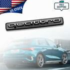 For Audi Quattro Emblem Gloss Black 3d Badge Rear Trunk A3 A4 A5 A6 A7 Q3 Q5