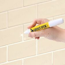3x Grout Pen +REFRESHES/REVIVES+ Mould/Water Resistant Kitchen/Bathroom/Shower