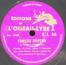 Couperin Crouilli Nef Morel Merckel Oubradous Désormière 78 RPM 10'' 25 cm NM