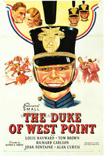 THE DUKE OF WEST POINT Movie POSTER 27x40 Louis Hayward Joan Fontaine Tom Brown