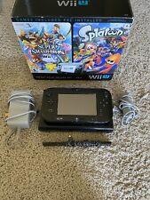 Nintendo Wii U 32GB Black Handheld System With 2 Games Preinstalled.