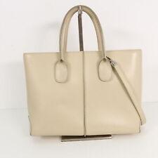 TOD´S Handtasche ECHT LEDER Damen beige Tasche Henkeltasche Leather Bag