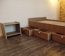 Nachttisch weiss  braunCAFE Jugendzimmer Kinderzimmer Schlafzimmer 18mm stark