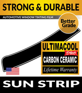 UCD PRECUT SUN STRIP WINDOW TINTING TINT FILM FOR BMW 550i 4DR SEDAN 11-16