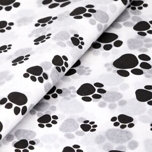 Paw Prints - Pets Puppy Dog Cat White Birthday Toy Wrapping Tissue Paper 35x45cm