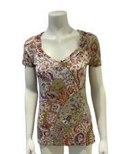 Amazing ETRO Milano Paisley Print Scoop Neck T-Shirt Size I 46