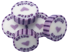 Lilac & Purple BRIDE GROOM Wedding Favour Wrapped Rock Candy Sweet vegan