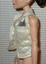 TOP BARBIE DOLL HASBRO STAR WARS OFF WHITE CREAM VEST SHIRT  ACCESSORY CLOTHING