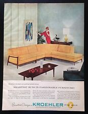 1960 Kroehler Verve Collection furniture sofa couch living room vintage print ad