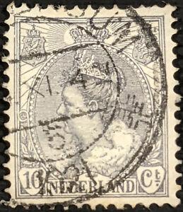 Stamp Netherlands SG179a 1899 10c Queen Wilhelmina Used