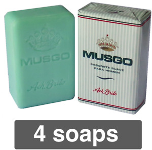 MUSGO REAL Ach Brito 160gr / 5.3oz Men Smooth Soap Up to 4x Claus Porto