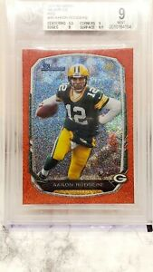 2013 Bowman Aaron Rodgers SSP /25 Silver Ice Red Refractor BGS 9 Mint! w/ 2 9.5s
