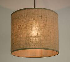 Lampenschirm Zylinderförmig Jute Stehlampe Hängelampe Rustikal Deckenleuchte