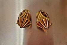 18K 18 Grams Gold Shell Post Gold Earrings