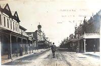 .c1910 RARE NEW ZEALAND, HIGH ST DANNEVIRKE REAL PHOTO POSTCARD. #2