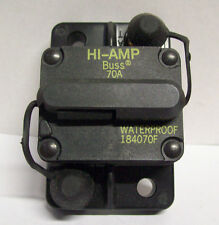 Buss Hi-Amp 70 Amp Boat Circuit Breaker Switch 42 VDC Waterproof 184070F